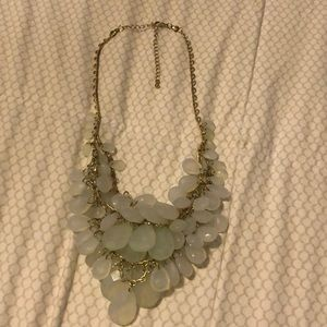 Francescas gold and light green necklace